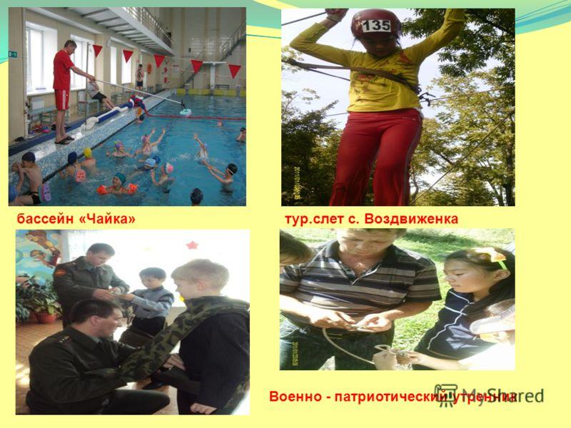 бассейн «Чайка»тур.слет с. Воздвиженка Военно - патриотический утренник