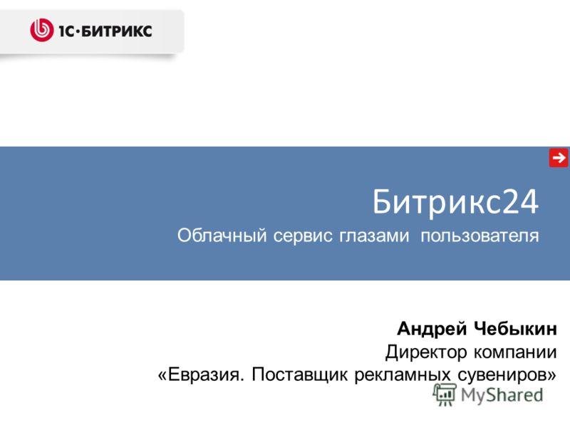 Андрей Чебыкин Директор компании «Евразия. Поставщик рекламных сувениров» Битрикс24 Облачный сервис глазами пользователя