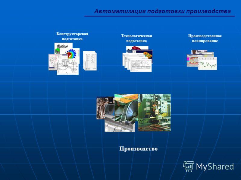 Автоматизация подготовки производства Конструкторская подготовка Производственное планирование Технологическая подготовка Производство