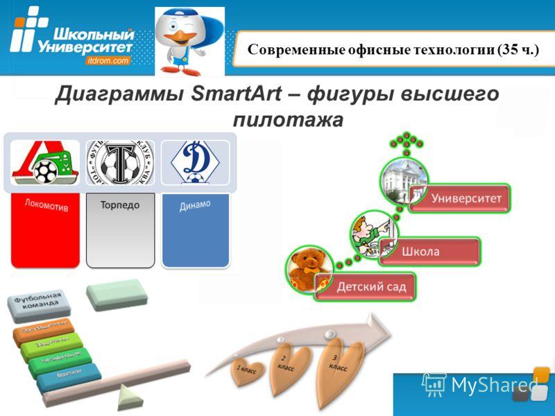 Диаграммы SmartArt – фигуры высшего пилотажа