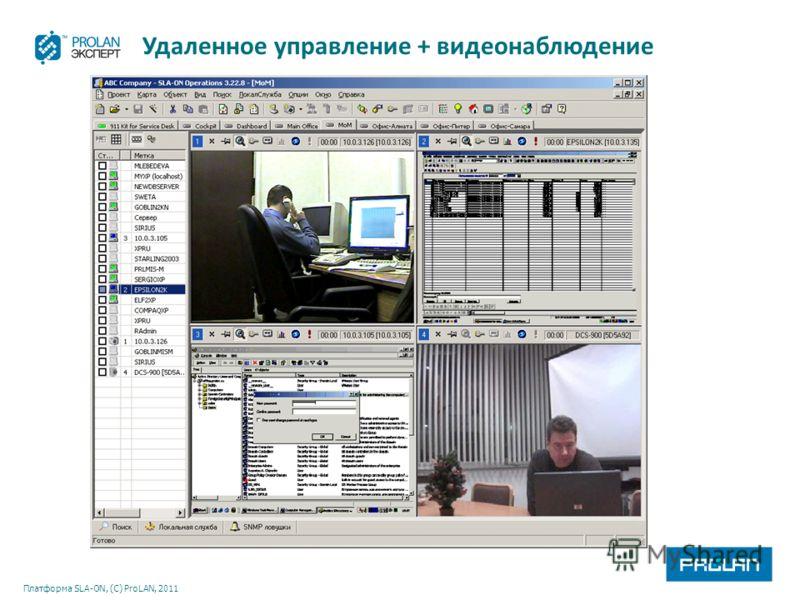 Платформа SLA-ON, (С) ProLAN, 2011 Удаленное управление + видеонаблюдение
