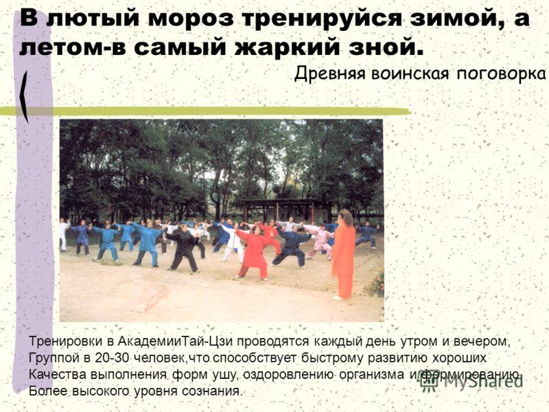 Ученики Восточной Академии отрабатывают комплекс Упражнений с китайским веером.
