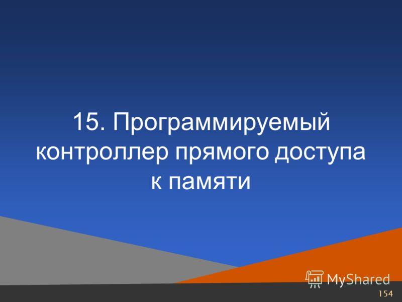 154 15. Программируемый контроллер прямого доступа к памяти