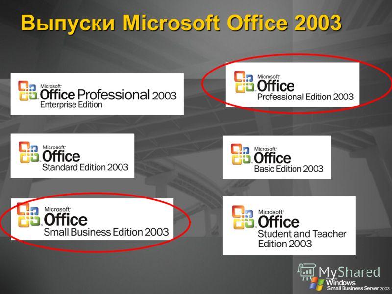 Выпуски Microsoft Office 2003