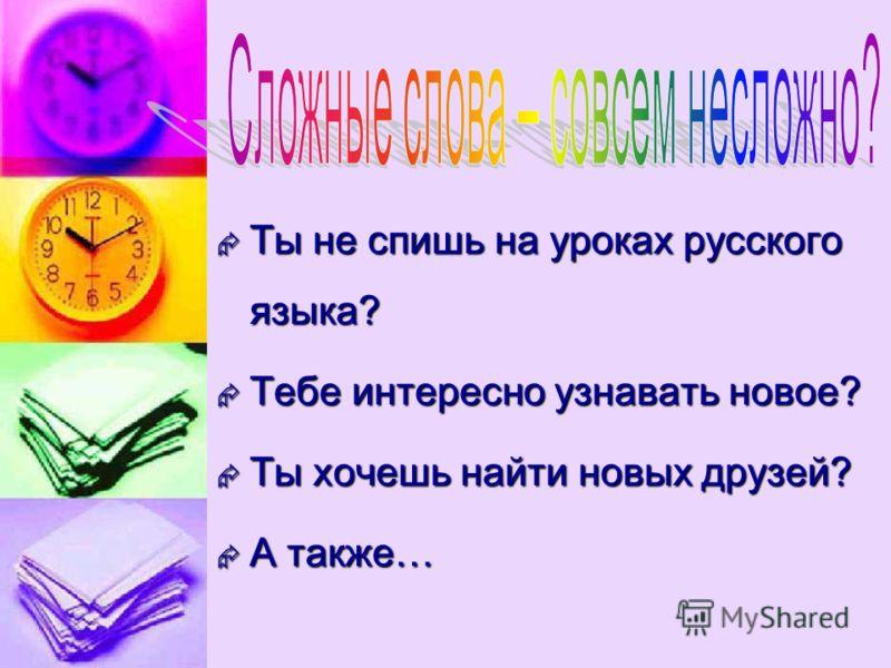 Ты не спишь на уроках русского языка? Тебе интересно узнавать новое? Ты хочешь найти новых друзей? А также…