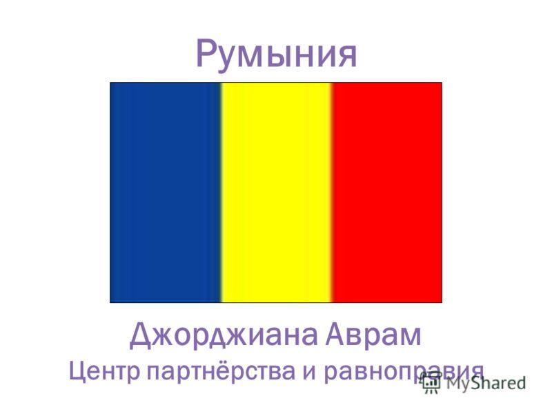Румыния Джорджиана Аврам Центр партнёрства и равноправия