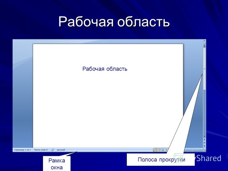 Строка меню Панель инструментов
