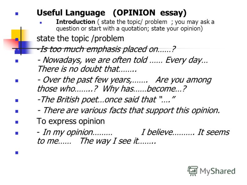 opinion based essays Ielts opinion essays: most questions that come up in the test for task 2 writing are opinion type essays this lesson explains the different types of opinion essay and how to analyse the question to ensure a high band score.