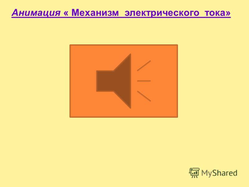 Анимация « Направление тока»