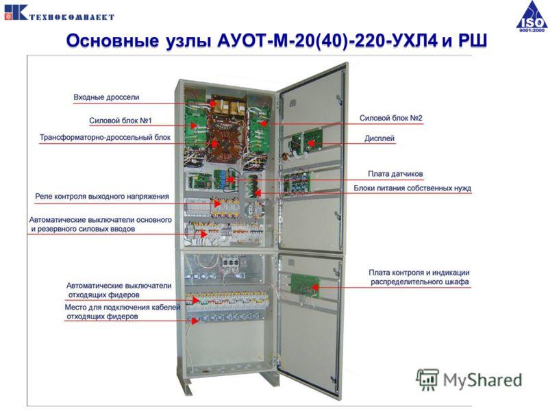 Основные узлы АУОТ-М-20(40)-220-УХЛ4 и РШ