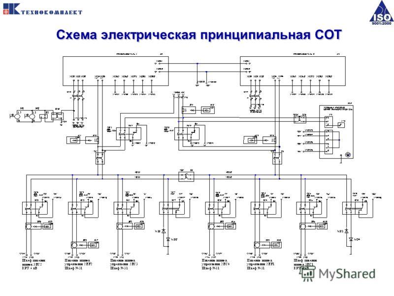 Схема электрическая принципиальная СОТ