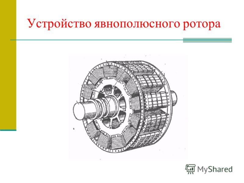 Устройство явнополюсного ротора