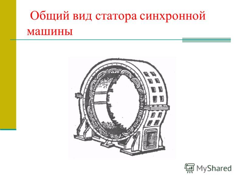 Общий вид статора синхронной машины