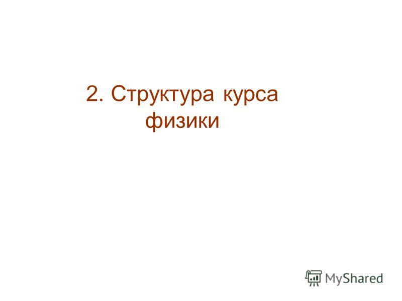 2. Структура курса физики