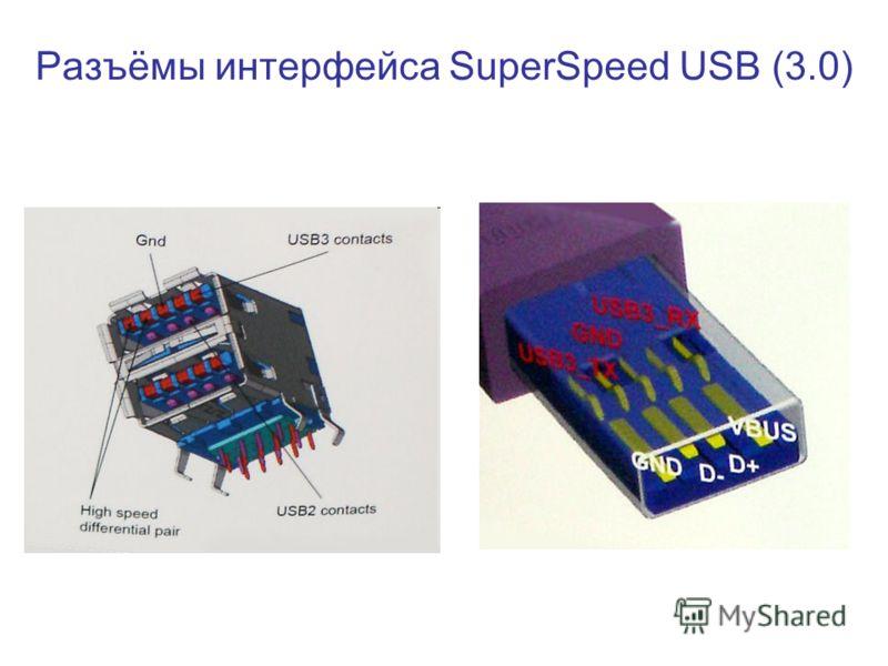 Разъёмы интерфейса SuperSpeed USB (3.0)
