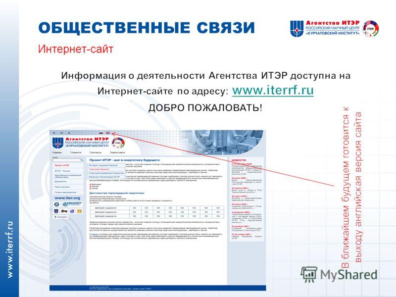 Интернет-сайт ОБЩЕСТВЕННЫЕ СВЯЗИ
