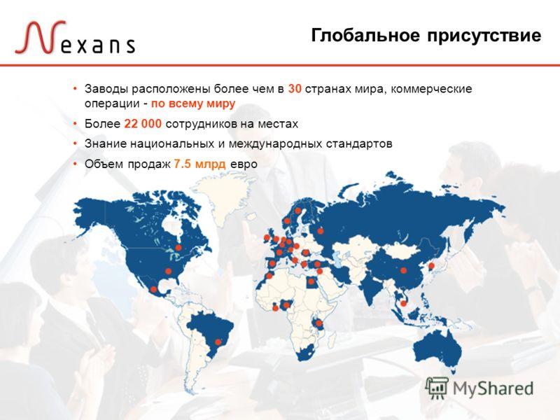 2 Заводы расположены более чем в 30 странах мира, коммерческие операции - по всему миру Более 22 000 сотрудников на местах Знание национальных и международных стандартов Объем продаж 7.5 млрд евро Глобальное присутствие