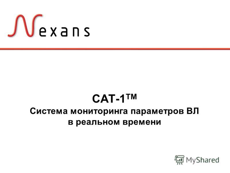 CAT-1 TM Система мониторинга параметров ВЛ в реальном времени