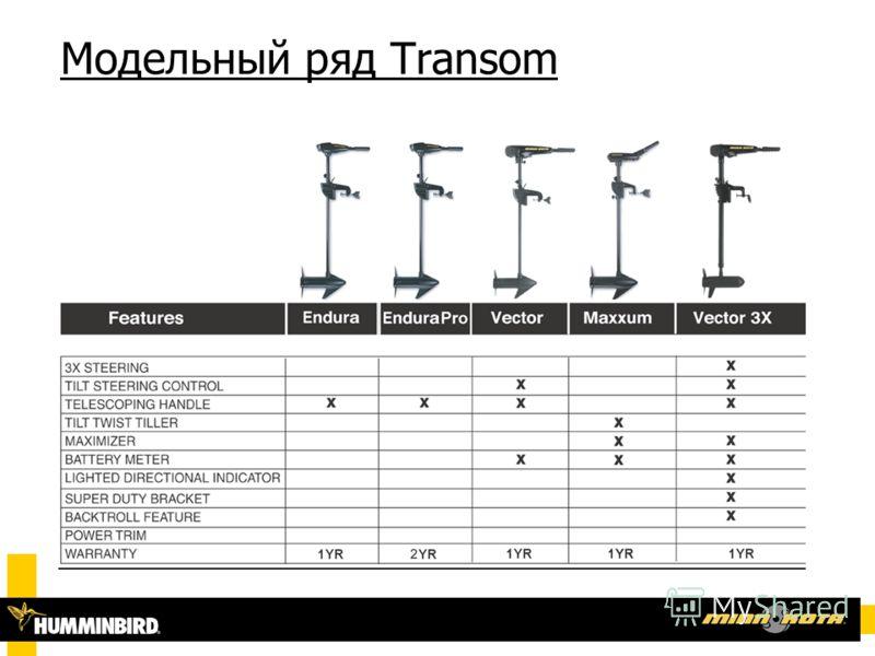 Модельный ряд Transom