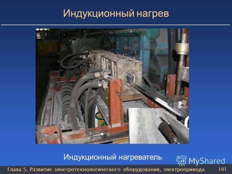 Глава 5. Развитие элнетротехнологического оборудования, электропривода 101 Индукционный нагрев Индукционный нагреватель