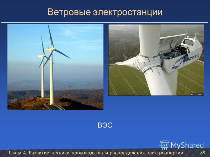 Глава 4. Развитие техники производства и распределения электроэнергии 89 Ветровые электростанции ВЭС