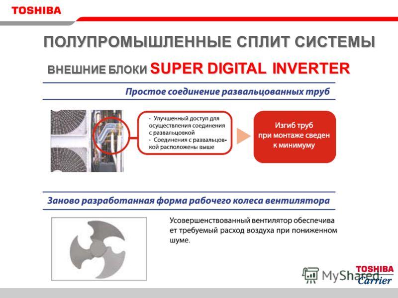 ПОЛУПРОМЫШЛЕННЫЕ СПЛИТ СИСТЕМЫ ВНЕШНИЕ БЛОКИ SUPER DIGITAL INVERTER