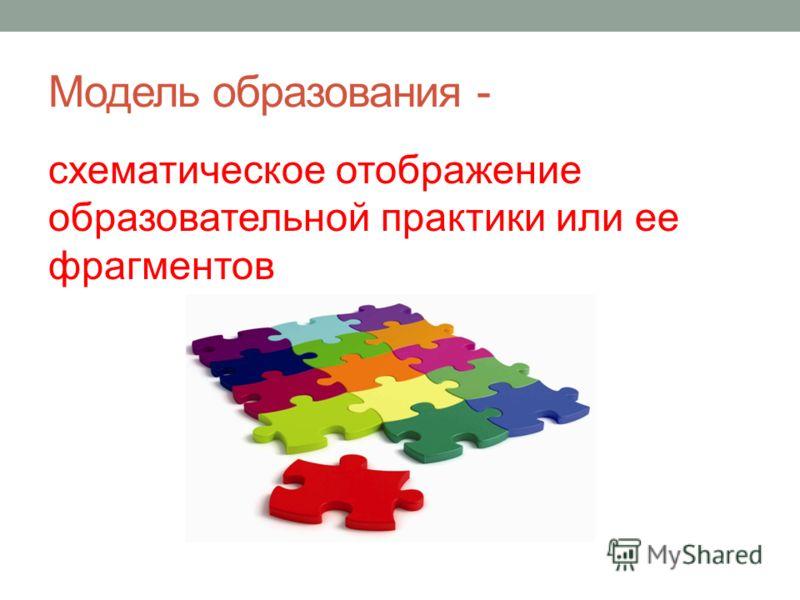 Модель образования - схематическое отображение образовательной практики или ее фрагментов
