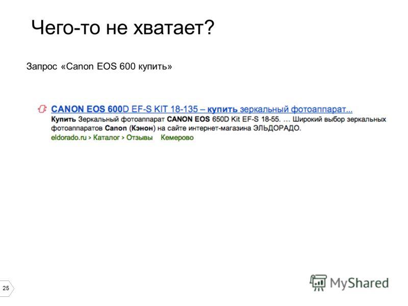 25 Чего-то не хватает? Запрос «Canon EOS 600 купить»