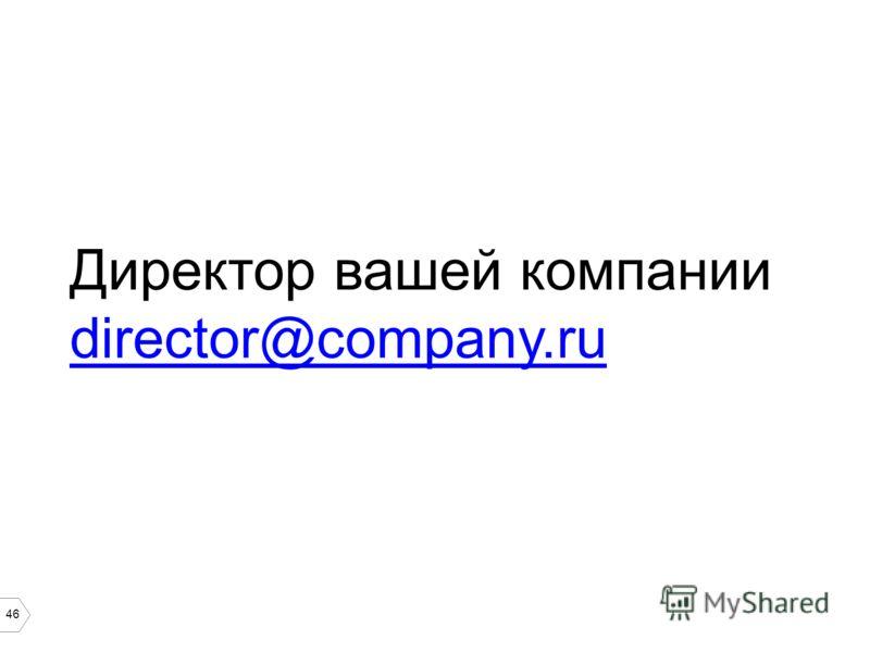 46 Директор вашей компании director@company.ru director@company.ru
