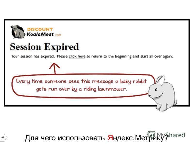 58 Для чего использовать Яндекс.Метрику?