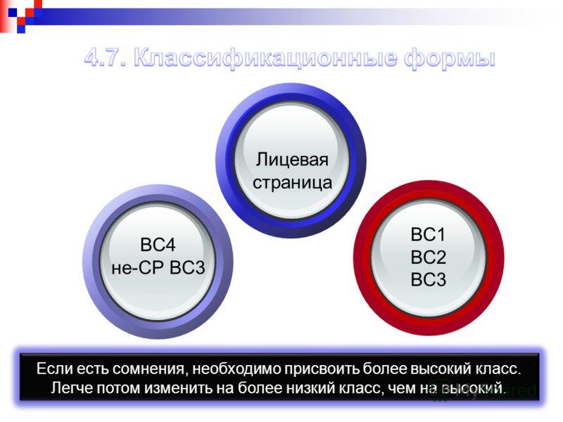 Лицевая страница BC1 BC2 BC3 BC4 не-CP BC3 Если есть сомнения, необходимо присвоить более высокий класс. Легче потом изменить на более низкий класс, чем на высокий. Если есть сомнения, необходимо присвоить более высокий класс. Легче потом изменить на