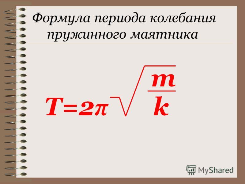 Формула периода колебания пружинного маятника