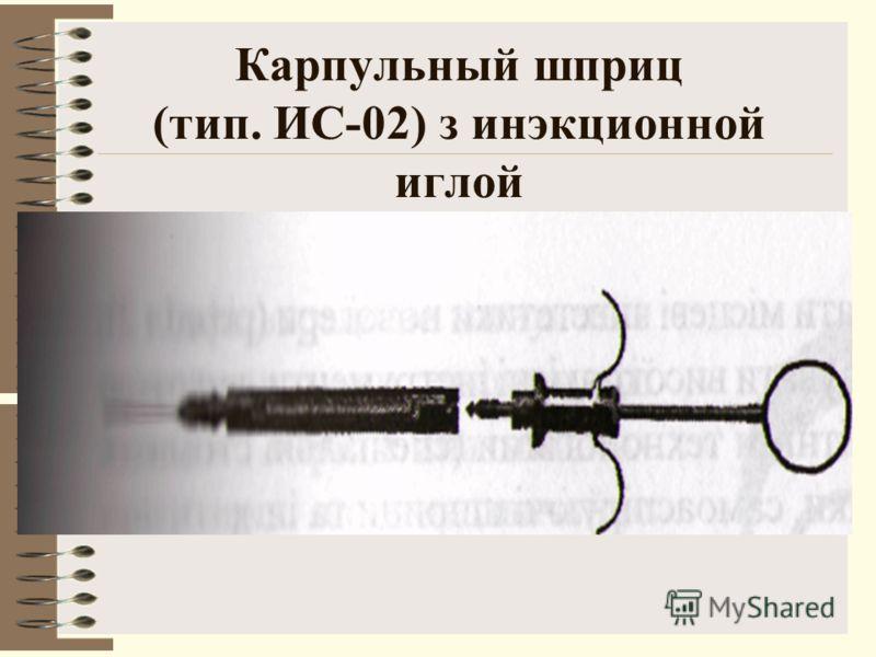 Карпульный шприц (тип. ИС-02) з инэкционной иглой