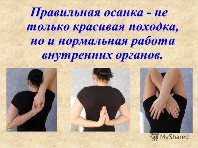 Правильная осанка - не только красивая походка, но и нормальная работа внутренних органов.