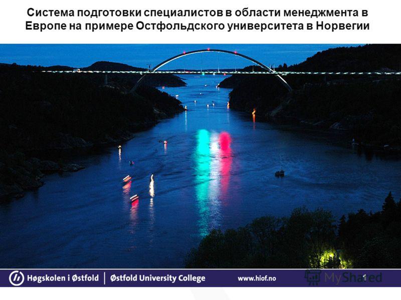 1 Система подготовки специалистов в области менеджмента в Европе на примере Остфольдского университета в Норвегии