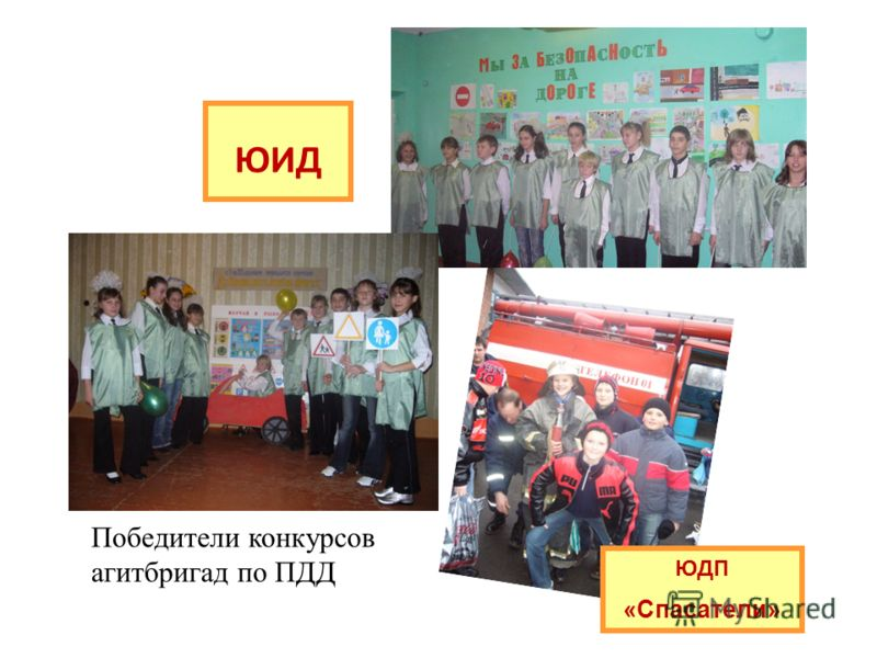 ЮИД ЮДП «Спасатели» Победители конкурсов агитбригад по ПДД