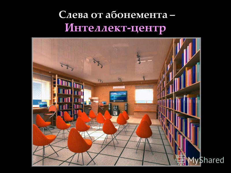 Слева от абонемента – Интеллект-центр