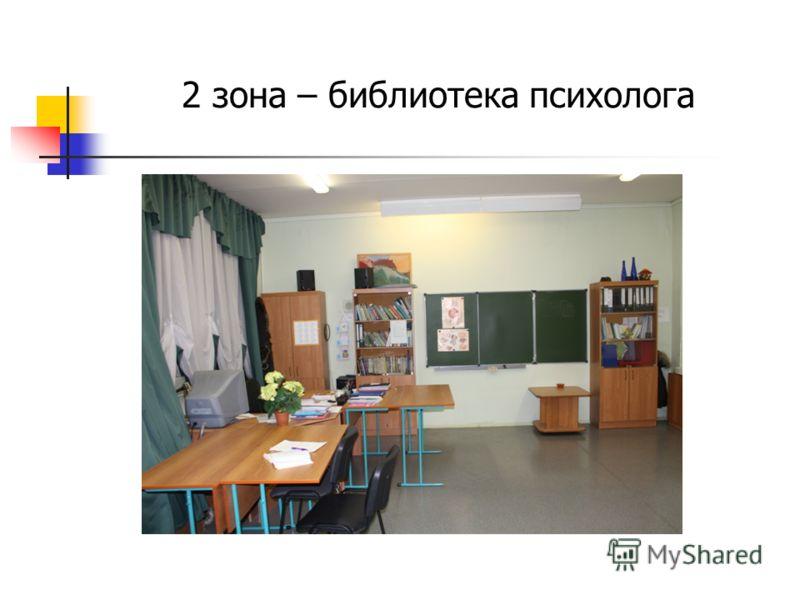 2 зона – библиотека психолога