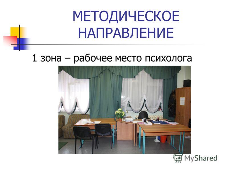 МЕТОДИЧЕСКОЕ НАПРАВЛЕНИЕ 1 зона – рабочее место психолога