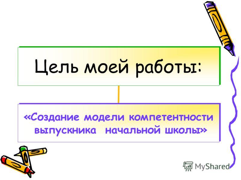 Цель моей работы: «Создание модели компетентности выпускника начальной школы»