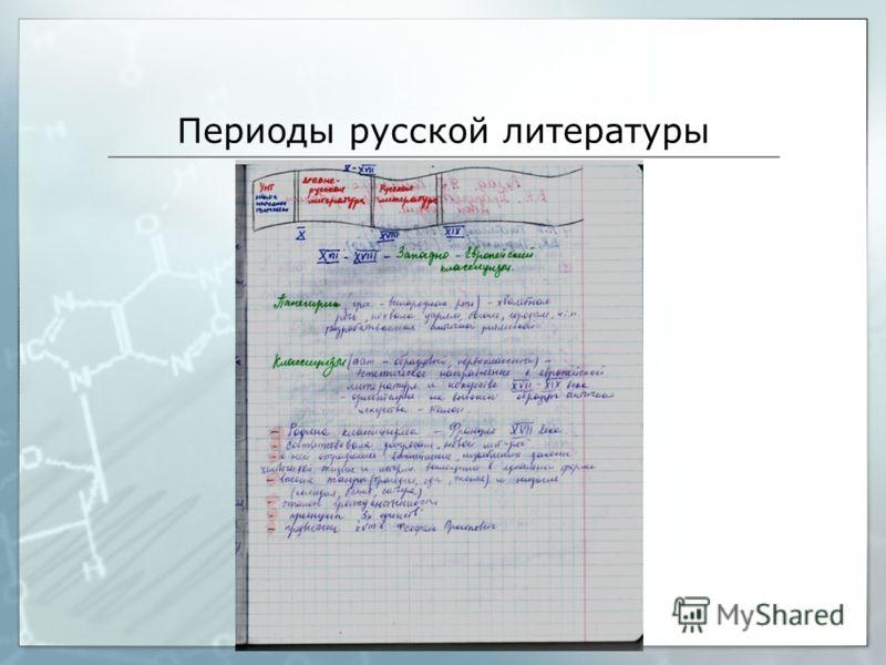 Периоды русской литературы
