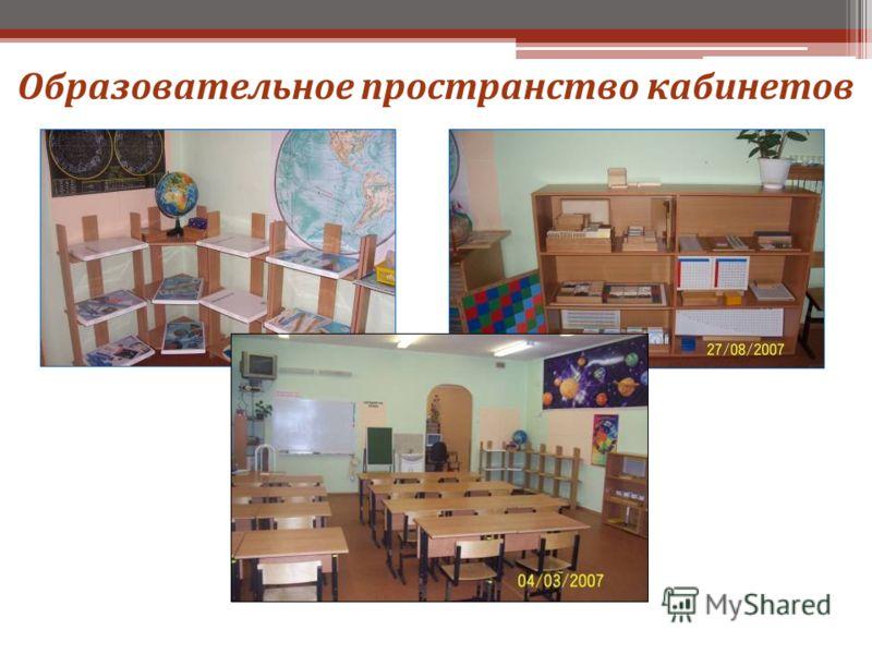 Образовательное пространство кабинетов