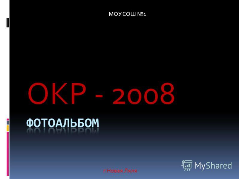 ОКР - 2008 г.Новая Ляля МОУ СОШ 1