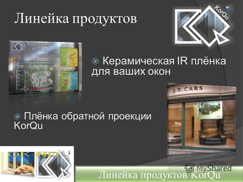 Линейка продуктов Плёнка обратной проекции KorQu Плёнка обратной проекции KorQu Линейка продуктов KorQu Керамическая IR плёнка для ваших окон Керамическая IR плёнка для ваших окон