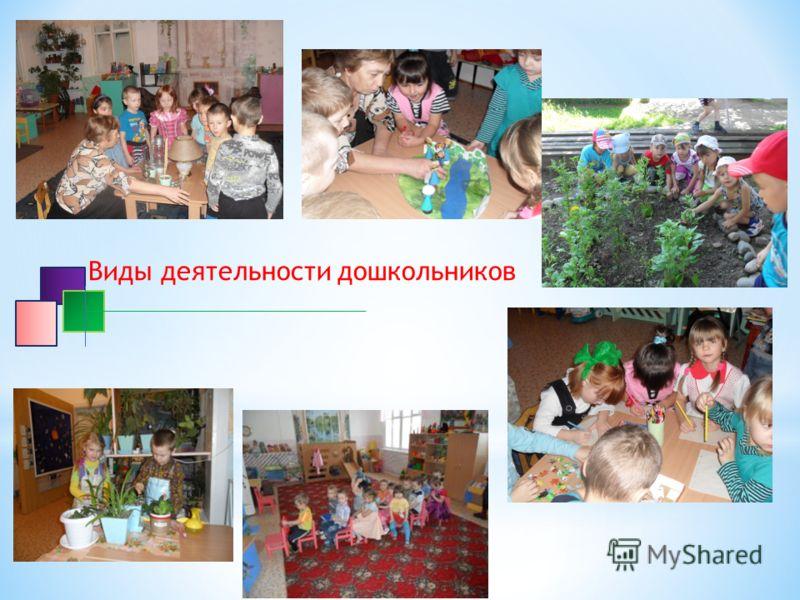 Виды деятельности дошкольников