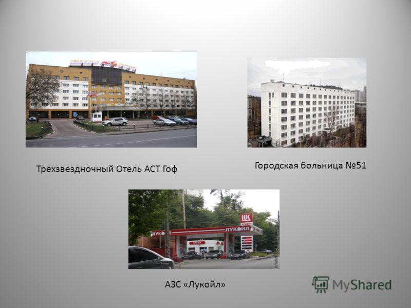 Трехзвездночный Отель АСТ Гоф Городская больница 51 АЗС «Лукойл»