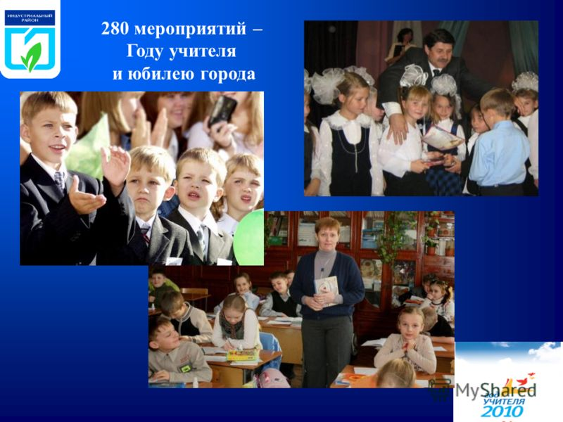 280 мероприятий – Году учителя и юбилею города