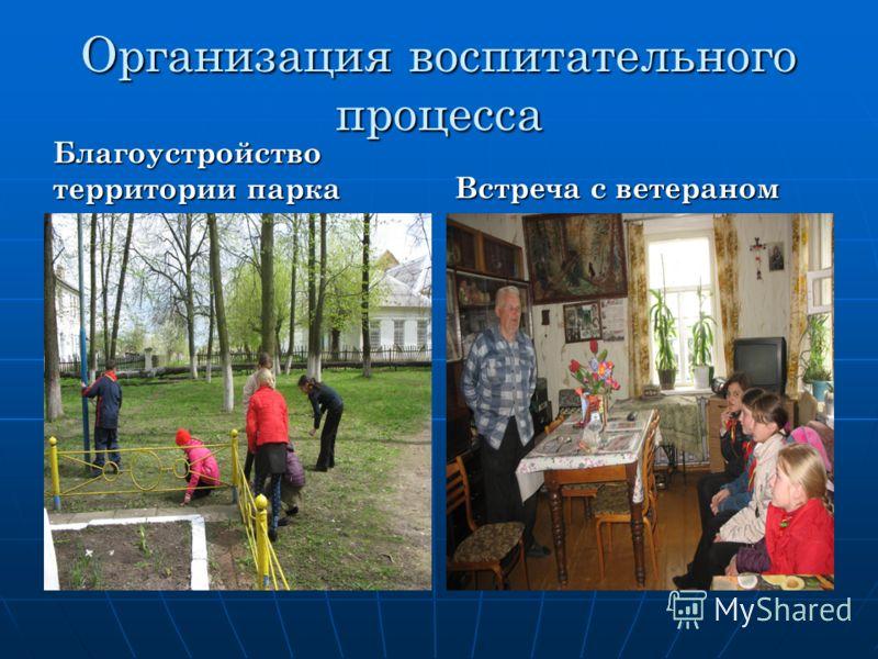 Организация воспитательного процесса Благоустройство территории парка Встреча с ветераном