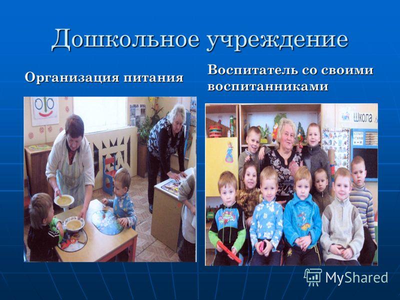 Дошкольное учреждение Организация питания Воспитатель со своими воспитанниками
