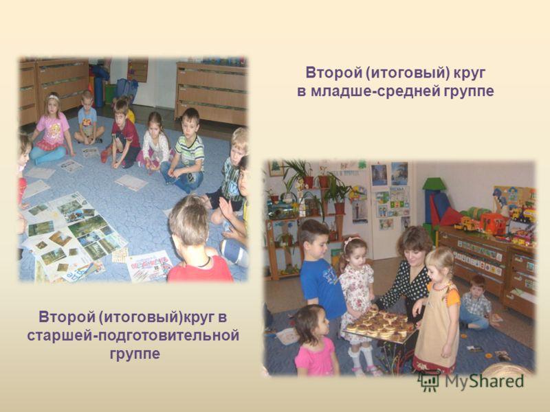 Второй (итоговый)круг в старшей-подготовительной группе Второй (итоговый) круг в младше-средней группе